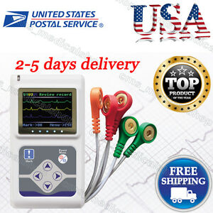Contec 3 Channel Holter Ecg System pc Software 24 Hours Recorder usa Shipment