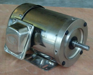 Gator Stainless Steel Ac Motor Washdown Duty 1hp 3600rpm 56c Tefc 1 Yr Warranty