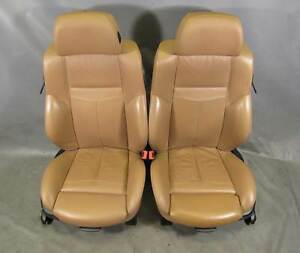 Bmw E63 6 Series Front Factory Sports Seat Pair Saddle Brown Precision