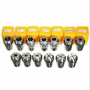 13pcs Er20 Cnc Spring Collet Set Router Milling Tool Workholding Drill 1mm 13mm