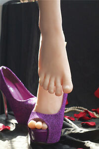 1 Pair Silicone Lifesize Female Mannequin Foot Shoes Display Model Art Sketch K8