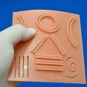 Suture Training Silicone Pad Surgical Shapes Practice For Medical Student Doctor