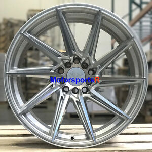 Xxr 561 Wheels 18 X 8 5 10 20 Silver Rims Staggered 5x114 3 04 Ford Mustang Gt