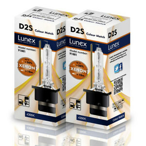 2 X D2s Genuine Lunex Car Xenon Bulbs Replacement For Philips Ge Osram 4300k