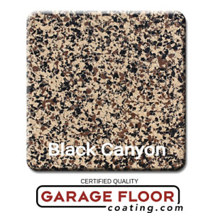 20 Lbs Decorative Color Chip Flakes For Epoxy Floor Coating Black Canyon 1 4