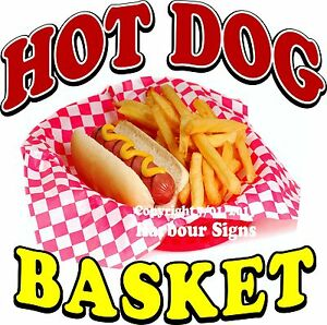 Hot Dog Basket Decal choose Your Size Food Truck Vinyl Sticker Concession