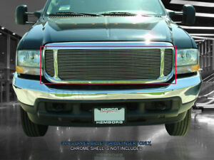 Fits 1999 2004 Ford Excursion F250 F350 F450 F550 Polished Billet Grille Grill