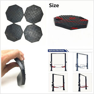 4pc Octagon Heavy Duty Rubber Arm Pads Car Lift Accessories For Auto Truck Hoist Fits More Than One Vehicle
