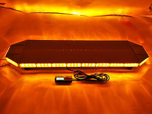 88 Led Amber Light Bar Emergency Beacon Warn Tow Truck Plow Response Strobe Lamp