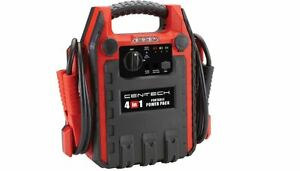 4 In 1 Jump Starter Air Compressor Camp Outage Case Dc Outlet Power Supply Auto