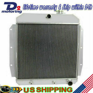 3row Aluminum Radiator For 1955 1959 Chevy Gmc Truck Pickup 56 57 58