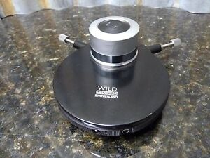 Wild Heerbrugg 5 Position Microscope Condenser Excellent Condition Free S