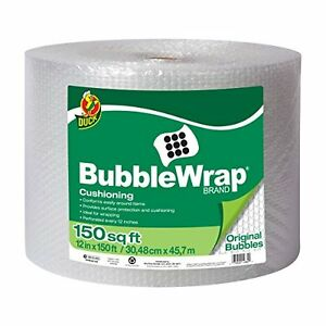 Bubble Wrap Roll 12 Inch Wide Bubbles Large Cushion Packaging Air 150 Ft Rolls