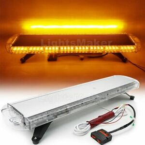 72w Led 38 Amber Emergency Warning Tow plow Truck Response Roof Lightbar Yellow