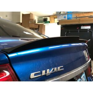Flat Black 648 Hpdl Type Rear Trunk Lip Spoiler Wing For 06 11 Honda Civic Coupe