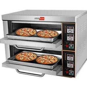 220v 6kw Commercial Electric Baking Oven Professional Pizza Cake Bread Oven T