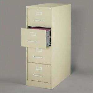 Hirsh 26 5 In Deep 4 Drawer Vertical Legal File Cabinet In Putty