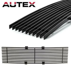 Black Front Billet Grille Grill Insert Lower Bumper Fits Ford F 150 Pickup 09 14