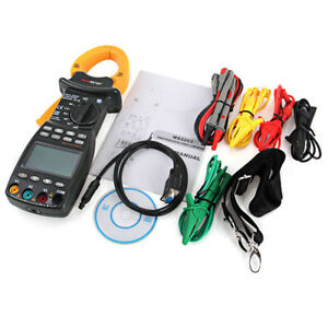 Digital Clamp Multimeter Lcd Meter Power Factor Correction Usb Trms Wire Testing