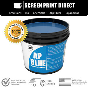 Ecotex Ap blue All Purpose Ready To Use Screen Printing Emulsion 1 Quart 32 Oz