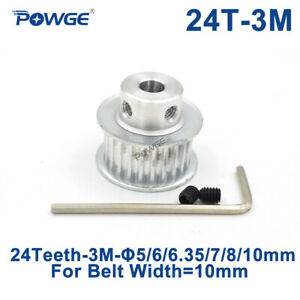 24 Teeth Htd 3m Timing Pulley Bore 5 6 6 35 8mm For Width 10mm 3m Open Belt 24t