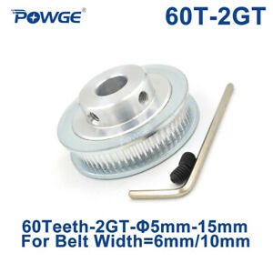 60 Teeth Gt2 Timing Pulley Bore 5 6 35 8 10mm For Width 6mm 2gt Belt 60teeth 60t