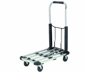 16 In X 28 In Folding Platform Truck Carry Space Deck Rubber Storage Compact