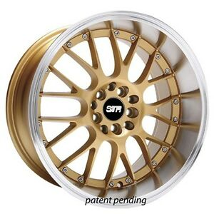 18 Str Wheels 514 Gold Jdm Style Rims Fit Bmw Civic Subaru