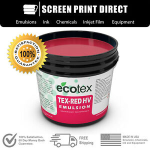 Ecotex Tex red Hv High Viscosity Textile Screen Printing Emulsion 1 Gallon