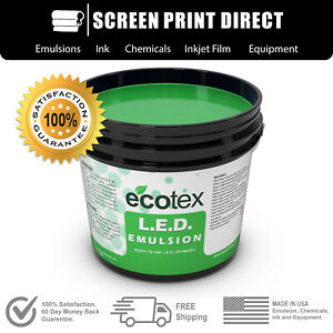 Ecotex L e d Textile Pure Photopolymer Screen Printing Emulsion 1 Qt 32 Oz