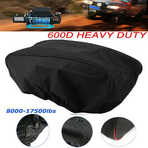 Waterproof Winch Dust Cover Driver Recovery 8 500 To 17 500 Pound Capacity Ek