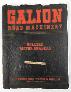 Vintage 1961 Galion Road Machinery Rollers Motor Grades Shop Manual Book