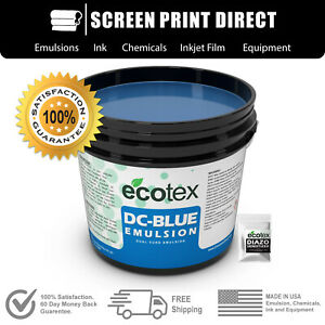 Ecotex Dc blue Graphic Dual cure Screen Printing Emulsion 1 Quart 32 Ounces