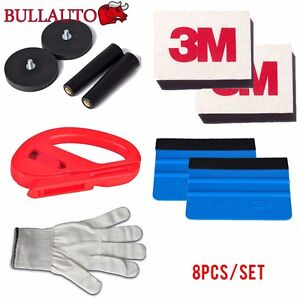 Car Wrap Vinyl Tools Kit Window Tint Installation 3m Squeegee Cutter Magnet