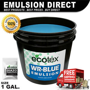 Ecotex Wr blue Water Resistant Diazo Screen Printing Emulsion 1 Gallon