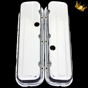 Big Block Chevy Tall Valve Covers For 396 427 454 502 Chevrolet Engines Chrome