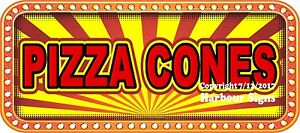 Pizza Cones Decal choose Your Size Food Truck Concession Vinyl Sticker