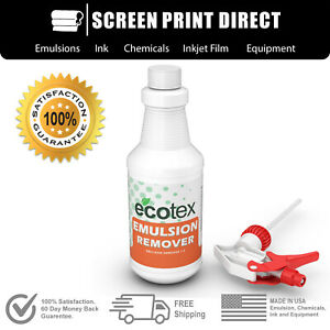 Ecotex Emulsion Remover Industrial Screen Printing Chemicals 1 Quart 32oz