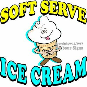 Soft Serve Ice Cream Decal choose Your Size Cone Food Truck Concession Sticker