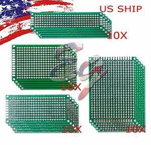 40 Pcs Double side Protoboard Circuit Prototype Diy Pcb Board 5x7 4x6 3x7 2x8cm