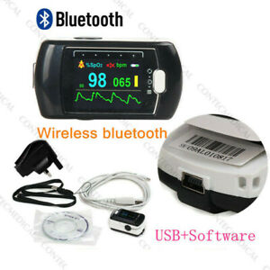 Usa Finger Tip Pulse Oximeter Blood Oxygen Spo2 Sleep Monitor alarm bluetooth Sw