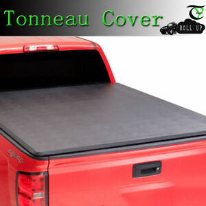 For 2015 2019 Toyota Tacoma 6ft Short Bed Lock Soft Roll Up Tonneau Cover Black