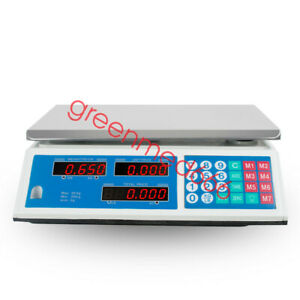 Usa Commercial Grade Digital Food Meat Cheese Deli Scale Pricing Computer Retail