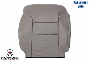 1995 1999 Chevy Tahoe Suburban passenger Side Lean Back Leather Seat Cover Gray