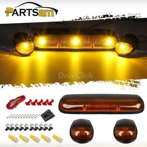 3xamber Cab Roof Clearance Lights 5x168 5730 Amber Led For Chevrolet Gmc 2002 07