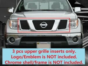 Black Billet Grille Grill Upper Insert For 2005 2008 Nissan Pathfinder Frontier