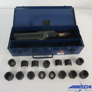Huskie Ep 610h Hydraulic Crimper Compression Tool Includes 13 Die Sets