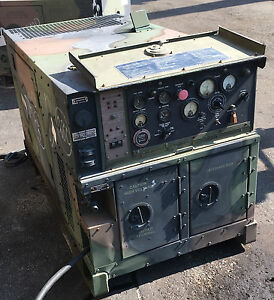 Military Mep 803a 10kw 50 60 Hz Diesel Quiet Generator 120 240 Single Ph 208