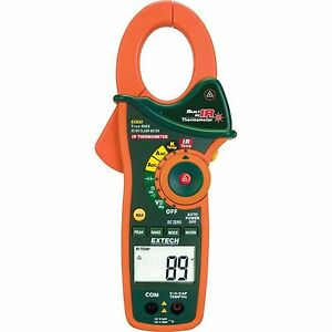 Extech Instruments Electrical 1000 amp Ir Thermometer True Rms Ac dc Clamp Meter