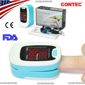 Fingertip Pulse Oximeter Blood Oxygen Saturation Monitor Case Rope Contec Usa